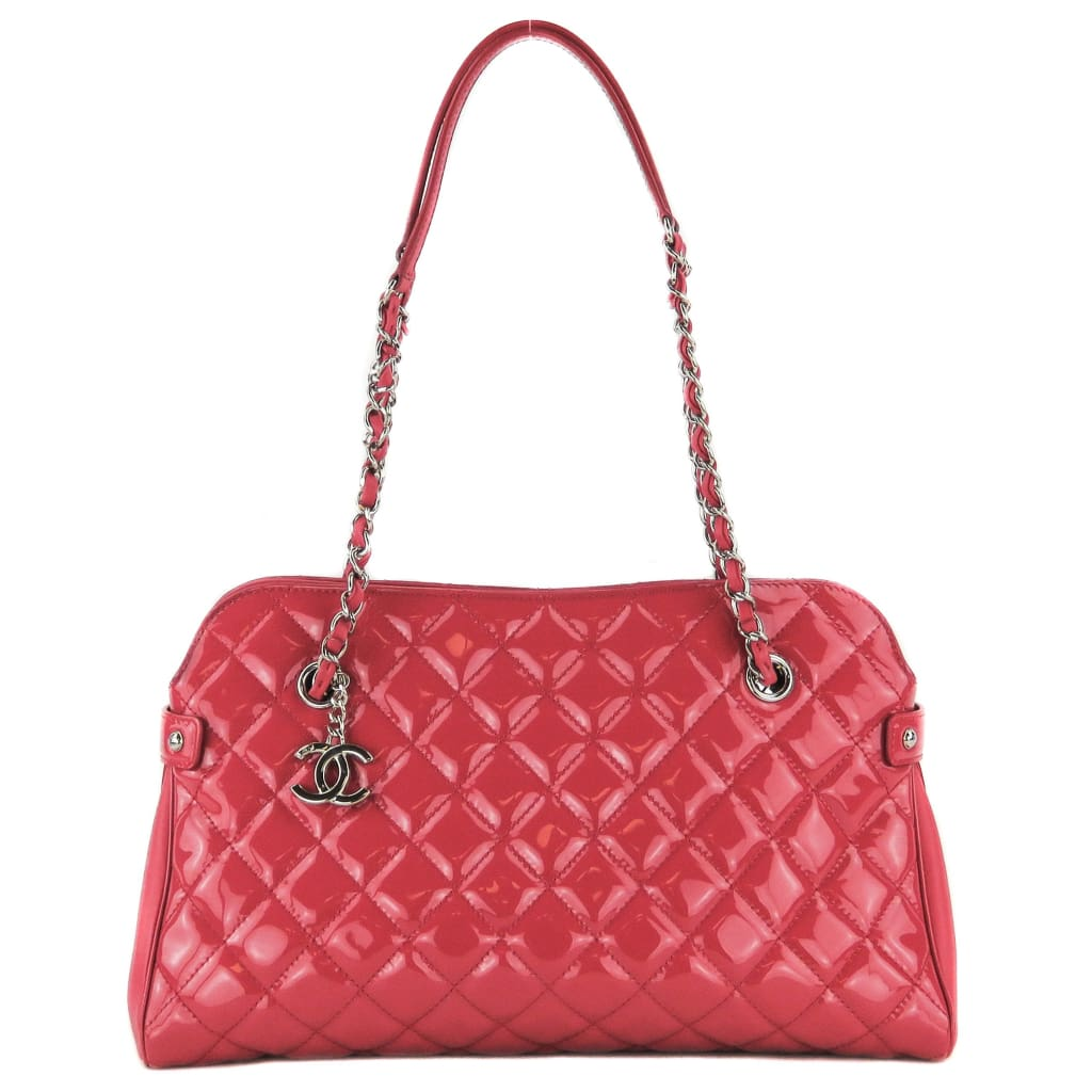 Chanel Pink Quilted Patent Leather Just Mademosielle Shoulder Bag - Shoulder Bags