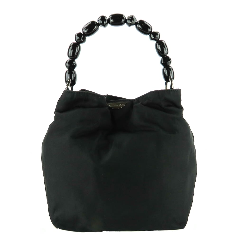 Christian Dior Black Nylon Malice Hobo Bag - Hobo Bags