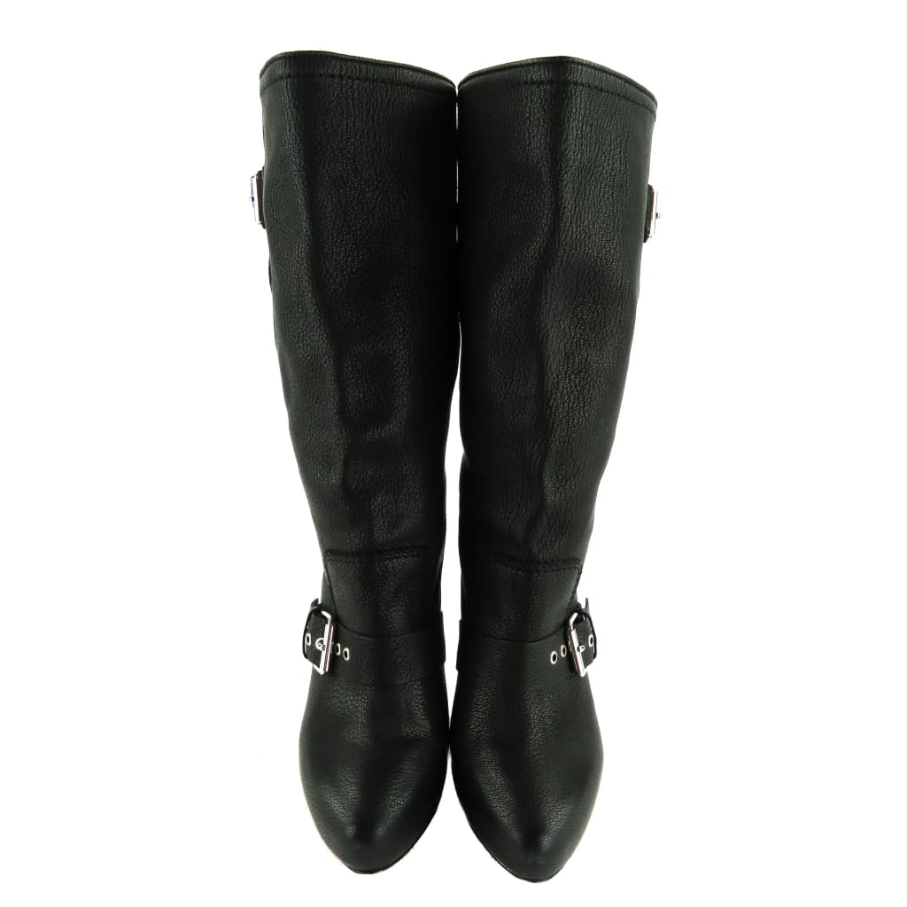 Christian Louboutin Black Leather Flanavec Mid Calf Boots - Boots/Rain Boots