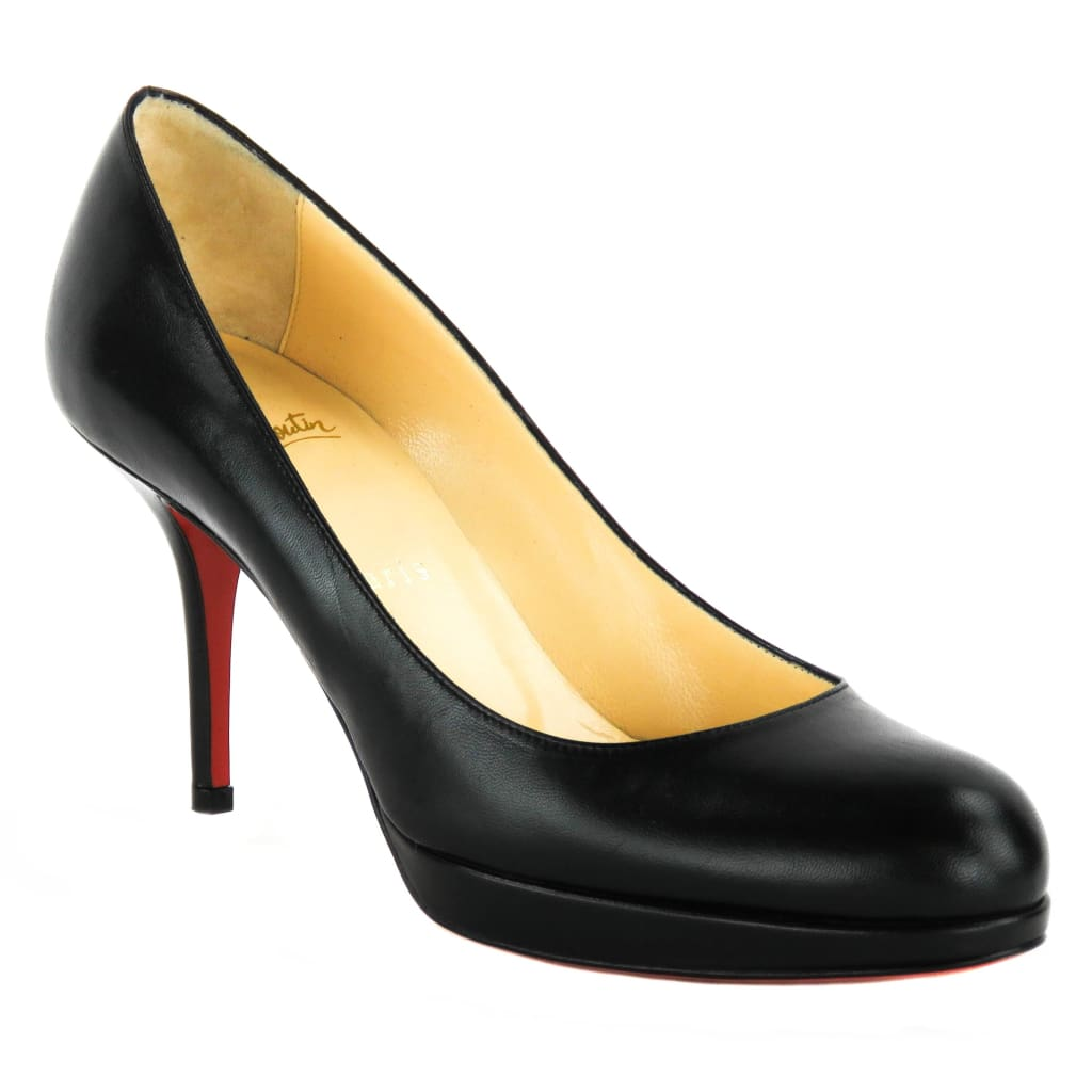 Christian Louboutin Black Leather New Simple 90mm Pumps - Heels