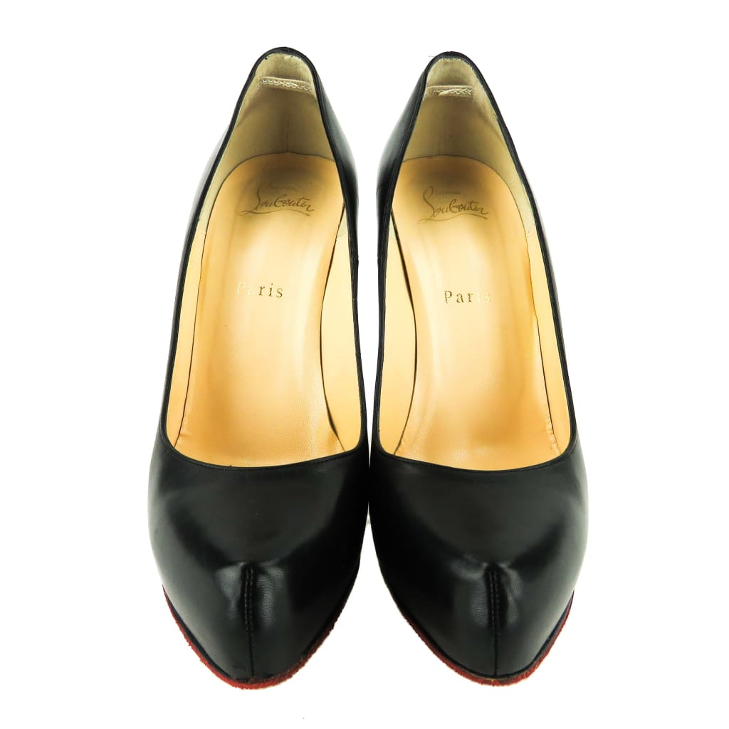 Christian Louboutin Black Leather Rolando Pumps - Pumps