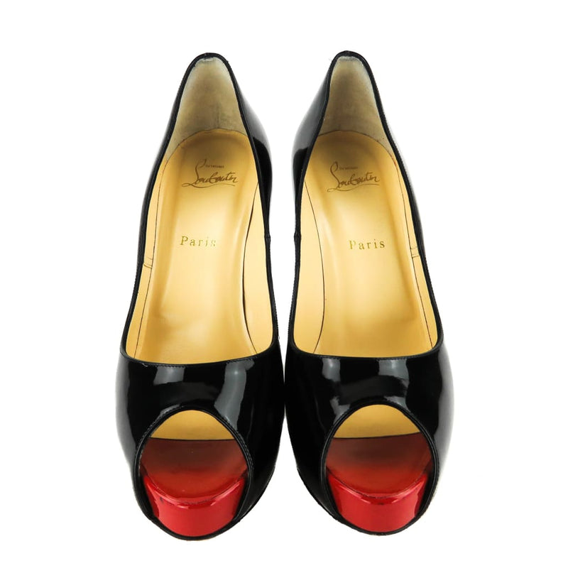 Christian Louboutin Black Patent Leather New Very Prive Pumps - Heels