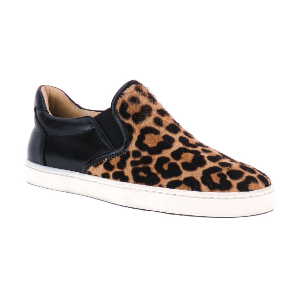 Christian Louboutin Leopard Print Calf Hair Master Key Slip On Sneakers - Sneakers