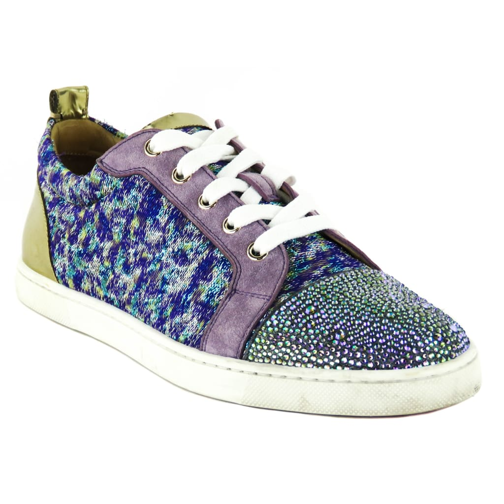Christian Louboutin Multicolor Suede Gondolastrass Crystal Low Top Sneakers - Sneakers