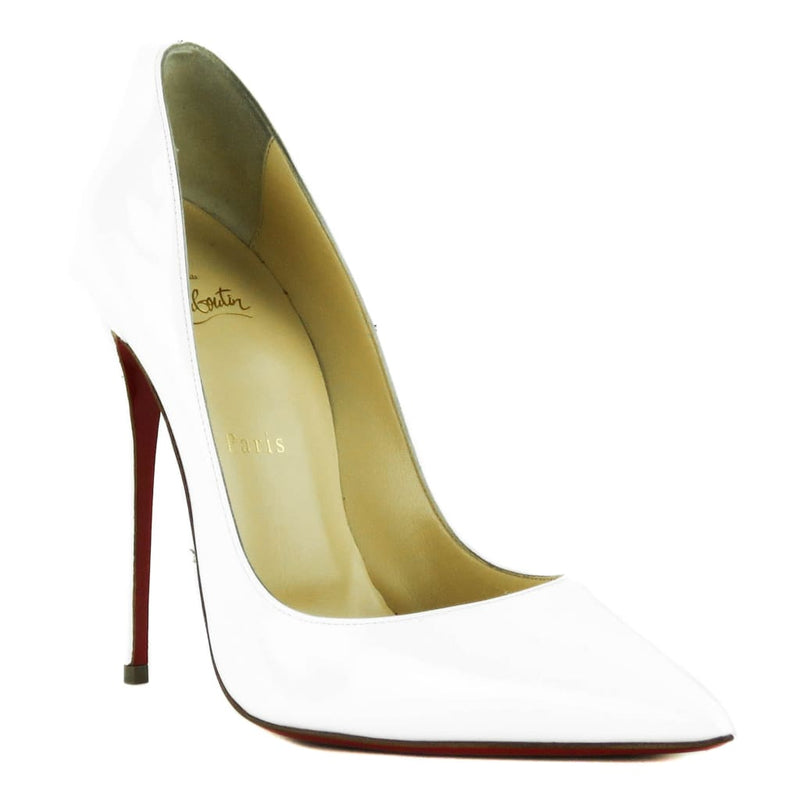 Christian Louboutin White Patent Leather So Kate Pumps - Heels