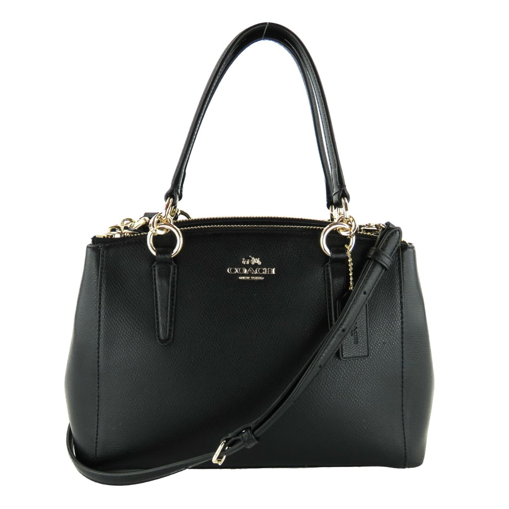 Coach Black Leather Mini Christie Carryall Satchel Bag - Satchels