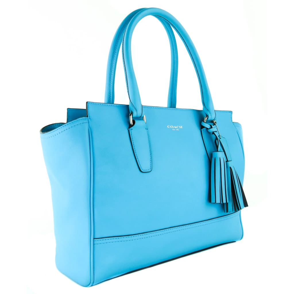 Coach Blue Leather Legacy Candace Carryall Tote Bag - Totes