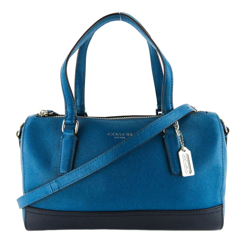 Coach Blue Saffiano Leather Colorblock Crossbody Bag - Crossbodies