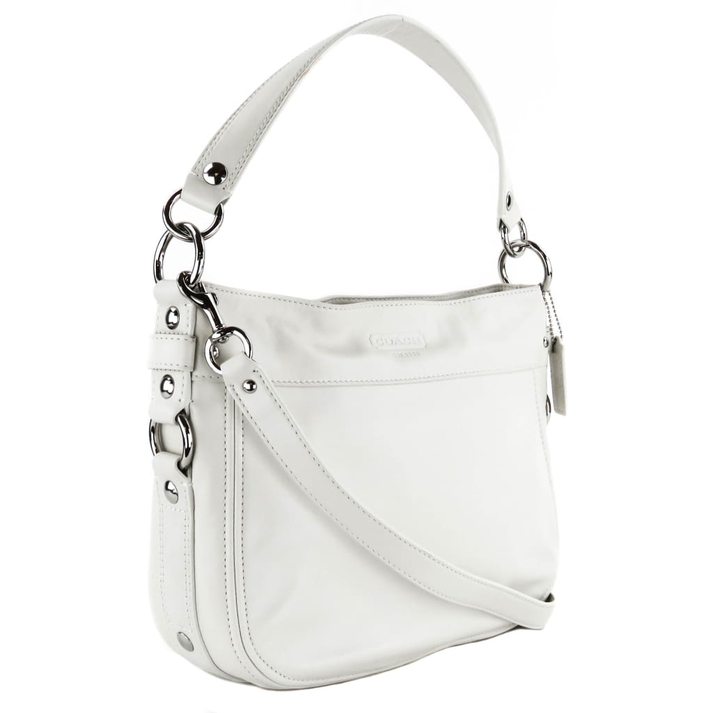 Coach Hobo White Leather Zoe Hobo Bag - Hobo Bags