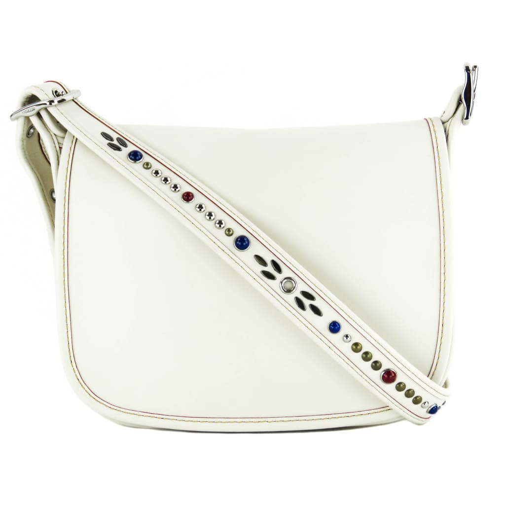Coach Ivory Leather Patricia Saddle Crossbody Bag - Crossbodies