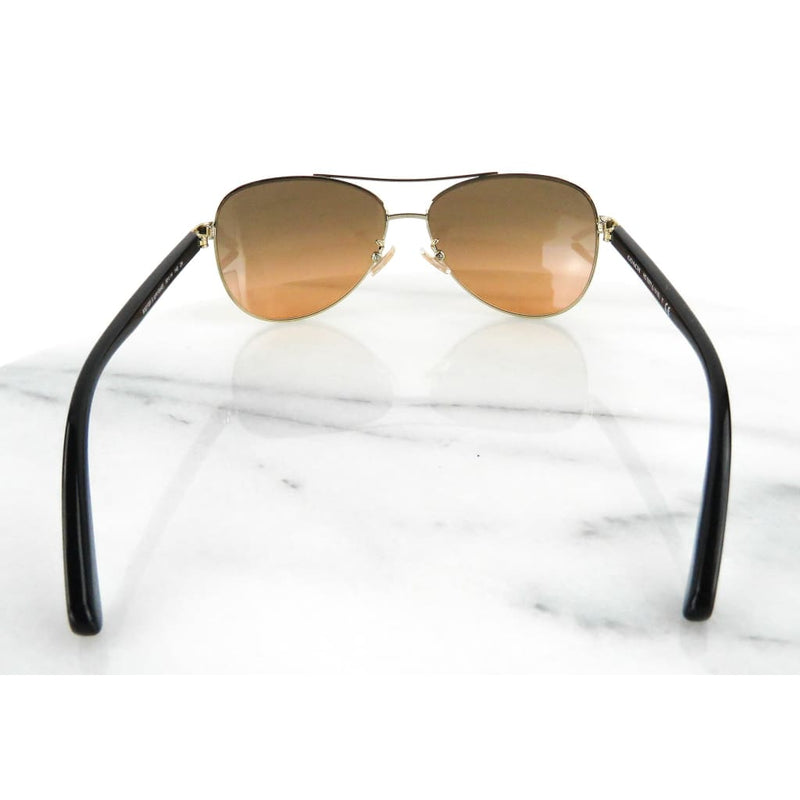Coach Light Gold-tone Aviator Sunglasses - Sunglasses