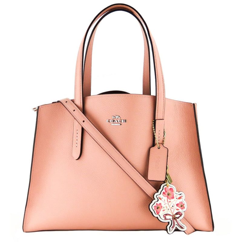 Coach Pink Leather Charlie Campall Tote Bag - Totes