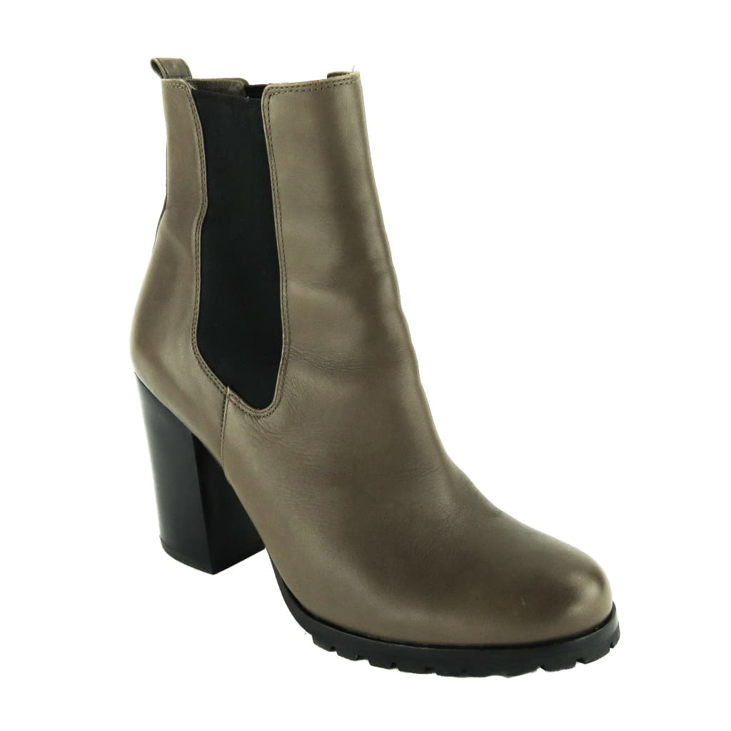 Coach Taupe Leather Odelle Ankle Booties - Bootie