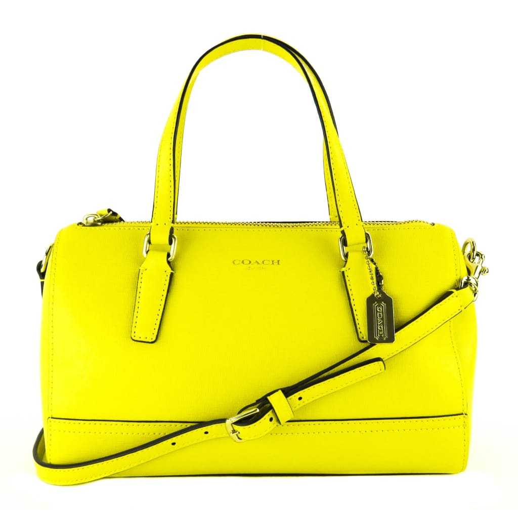 Coach Yellow Saffiano Leather Honeybee Crossbody Bag - Crossbodies