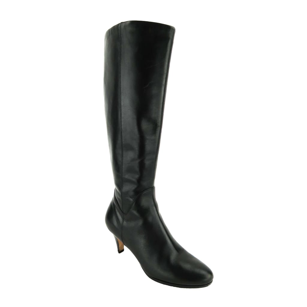 Cole Haan Black Leather Air Roselyn Knee High Boots - Boots/Rain Boots
