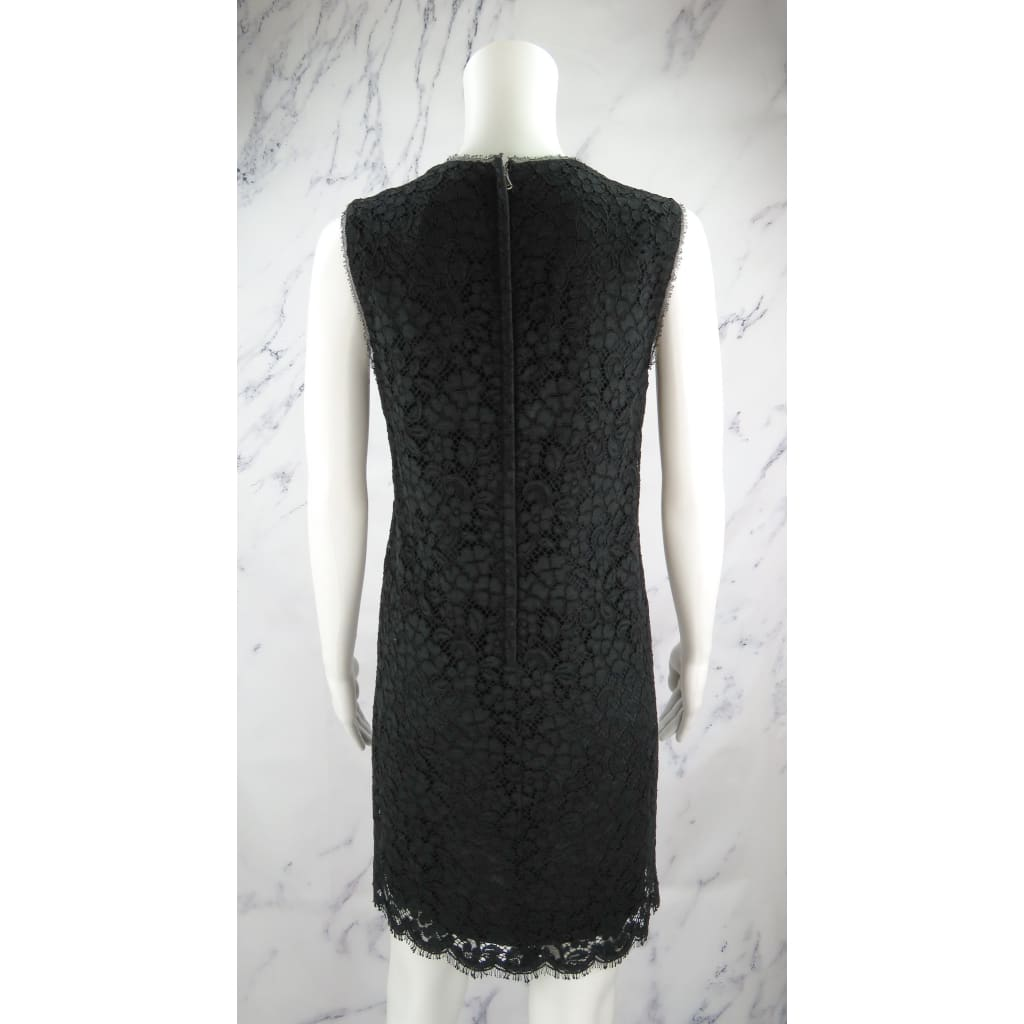 Dolce & Gabbana Black Lace Size 40 Sleeveless Dress - Dresses
