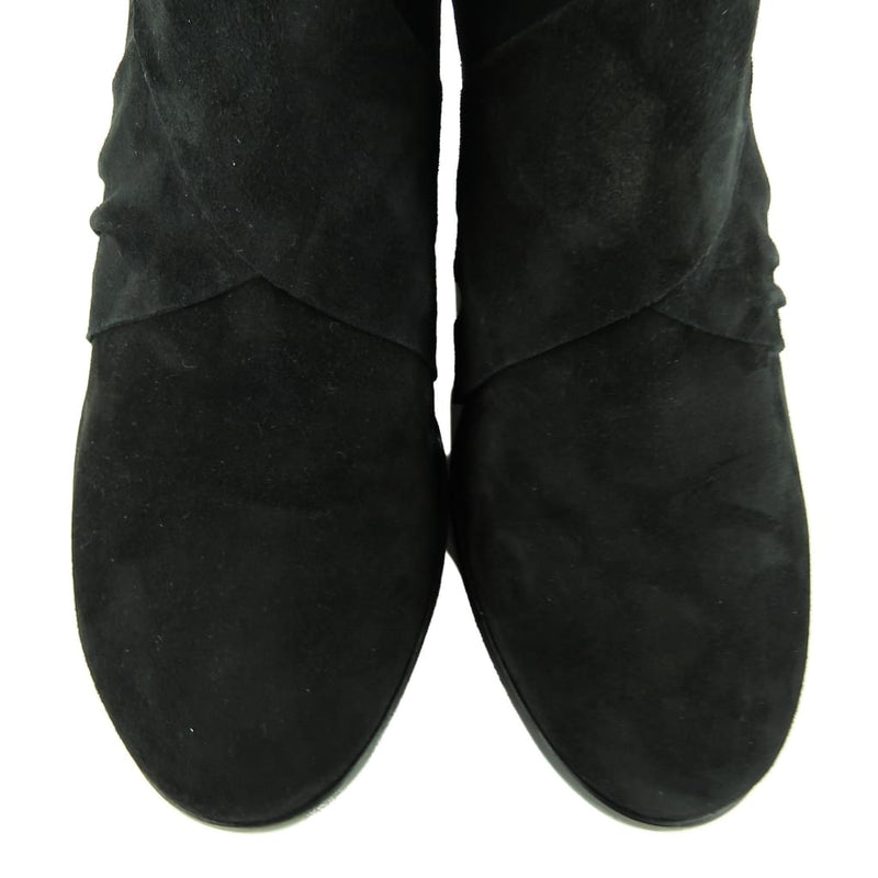 Eileen Fisher Black Suede Jenkins Booties - Bootie