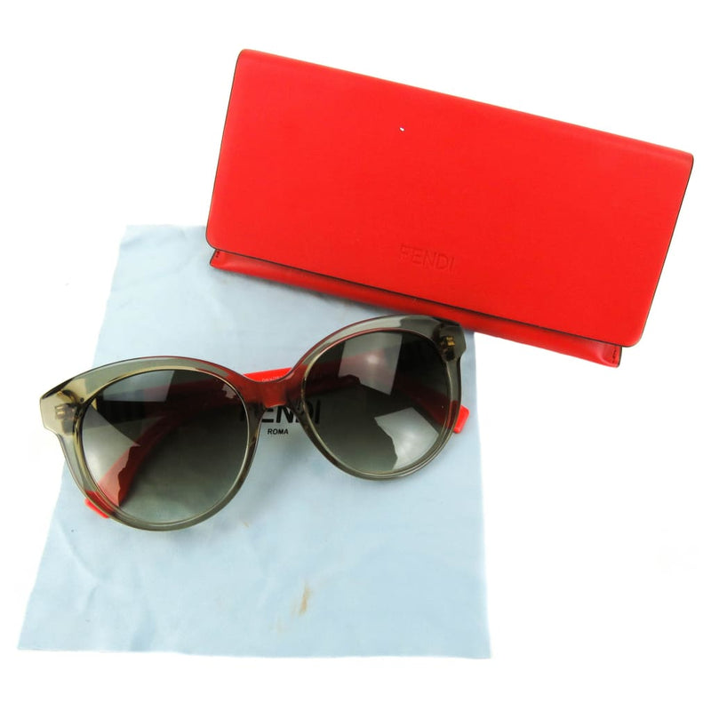 Fendi Brown and Red FF0013/S Round Sunglasses - Sunglasses