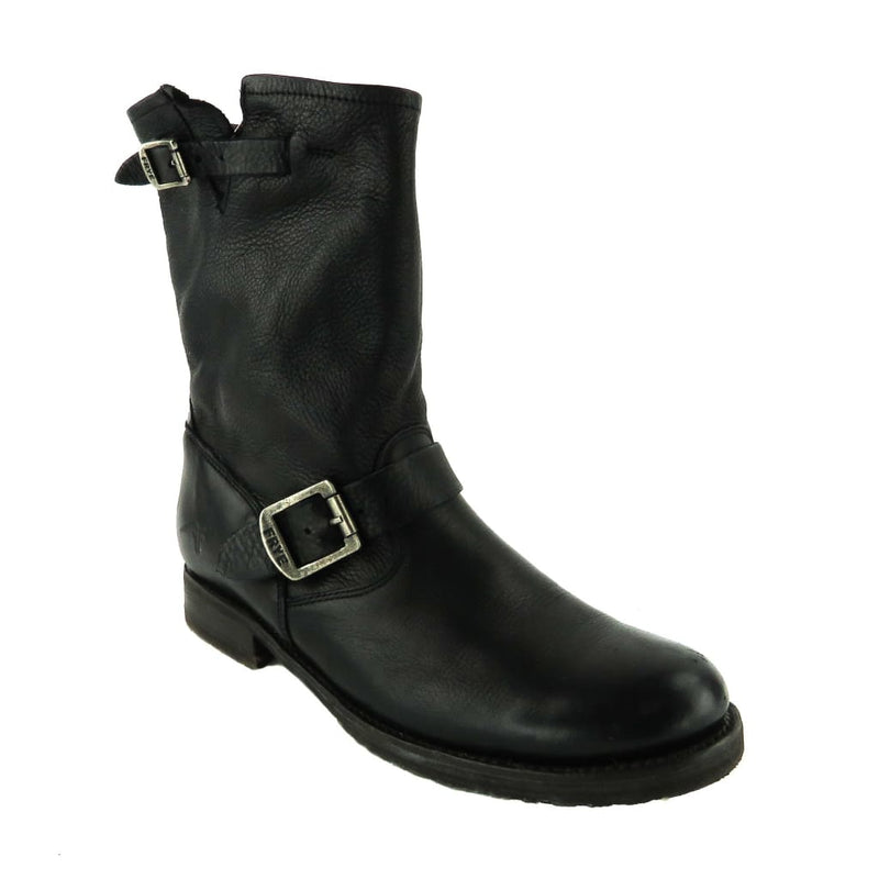 Frye Black Leather Engineer 12R Ankle Boots - Bootie