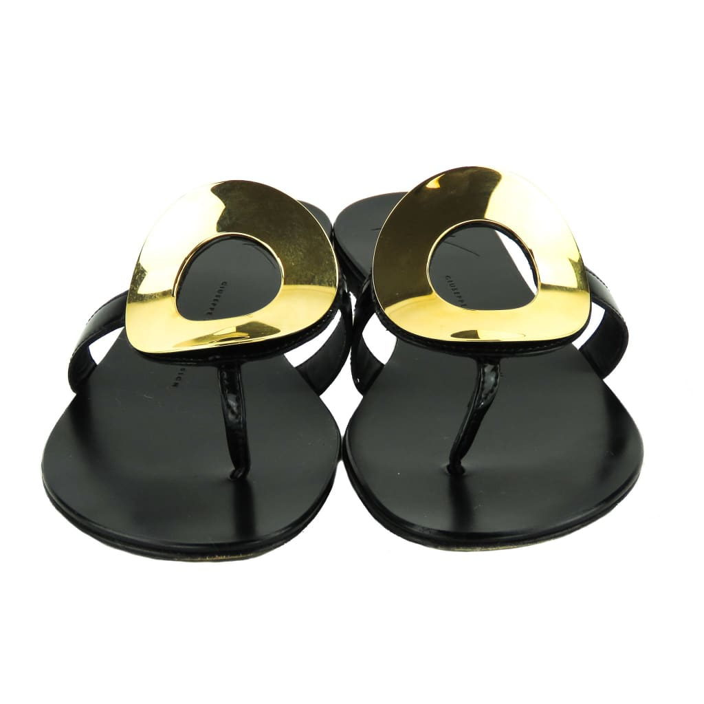 Giuseppe Zanotti Black Leather Nuvorock Sandals - Sandals