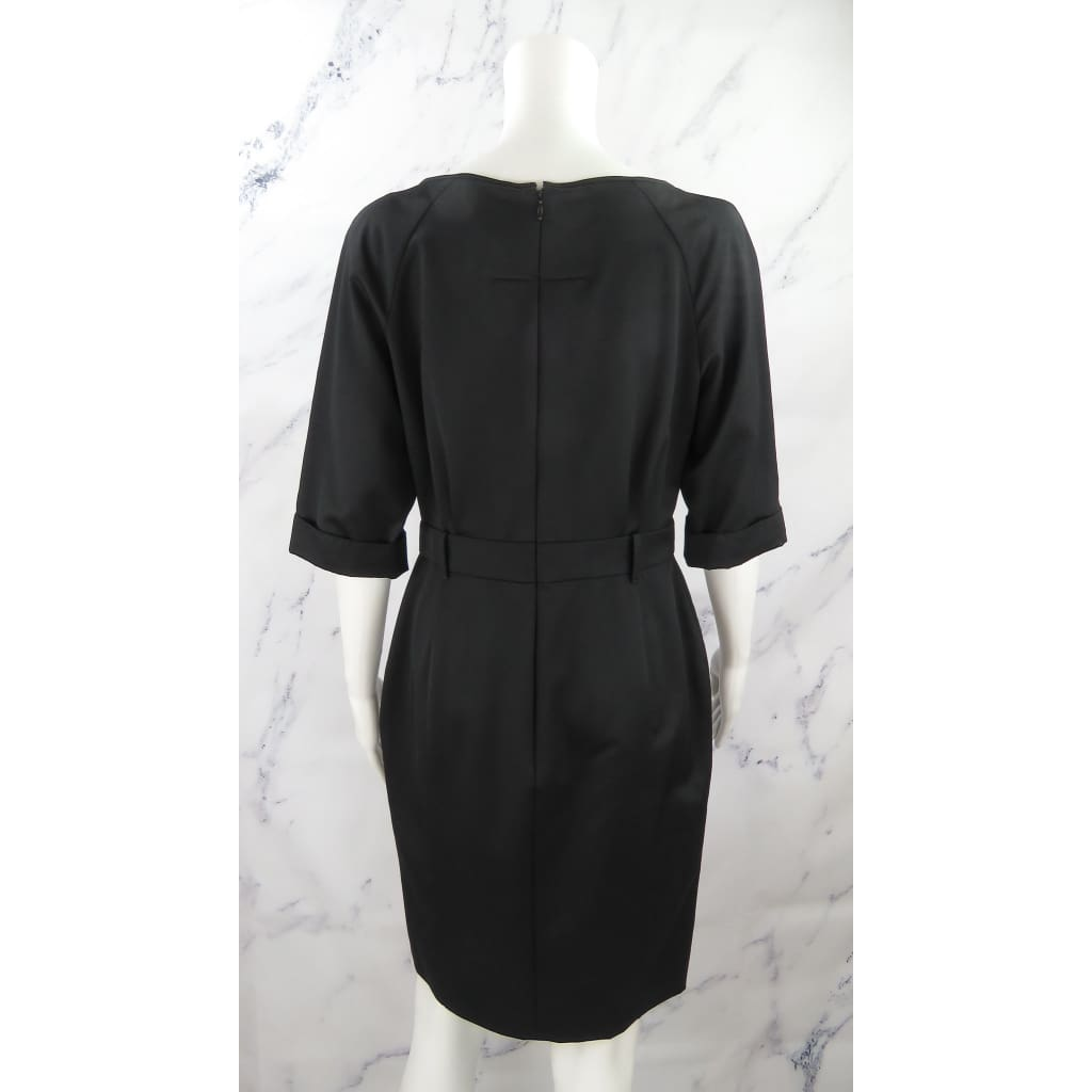 Givenchy Black Wool Size 42 Crop Sleeve Dress - Dresses