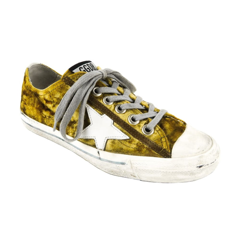 Golden Goose Gold Velvet V-Star Sneakers - Sneakers