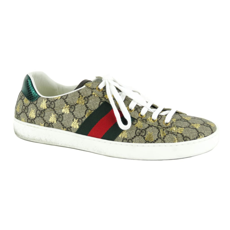 Gucci Beige GG Canvas Ace Supreme Bees Mens Sneakers - Sneakers