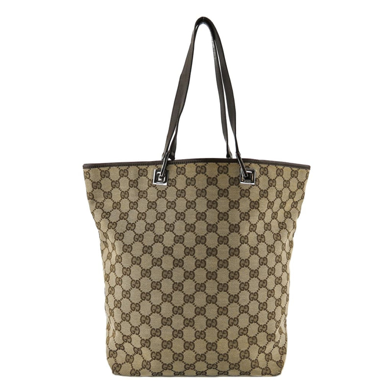 Gucci Beige GG Canvas Large Bucket Tote Bag - Totes