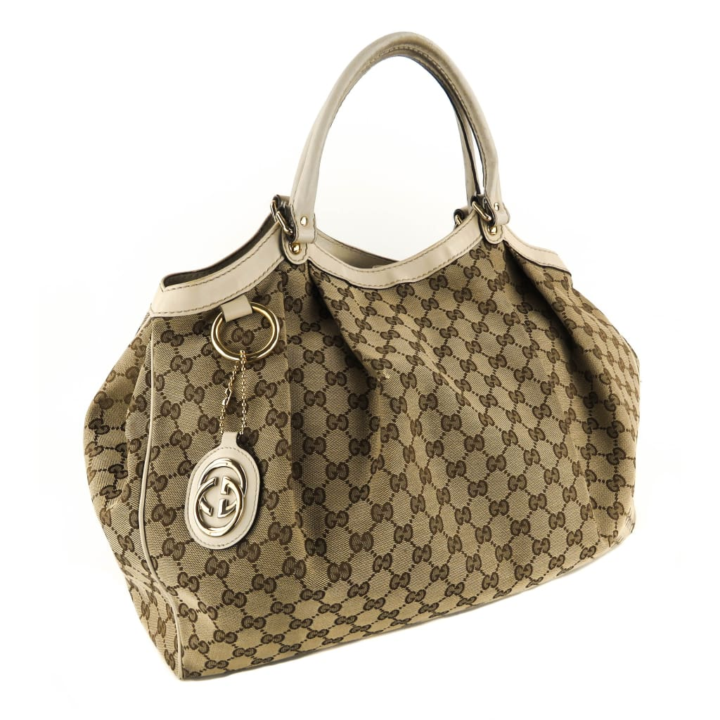 Gucci Beige GG Canvas Large Sukey Tote Bag - Shoulder Bags