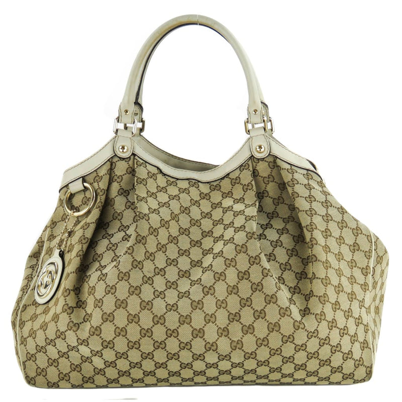 Gucci Beige GG Canvas Large Sukey Tote - Totes