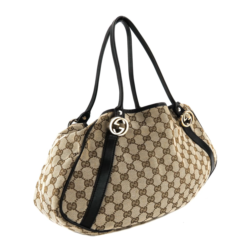 Gucci Beige GG Canvas Twins Tote Bag - Totes