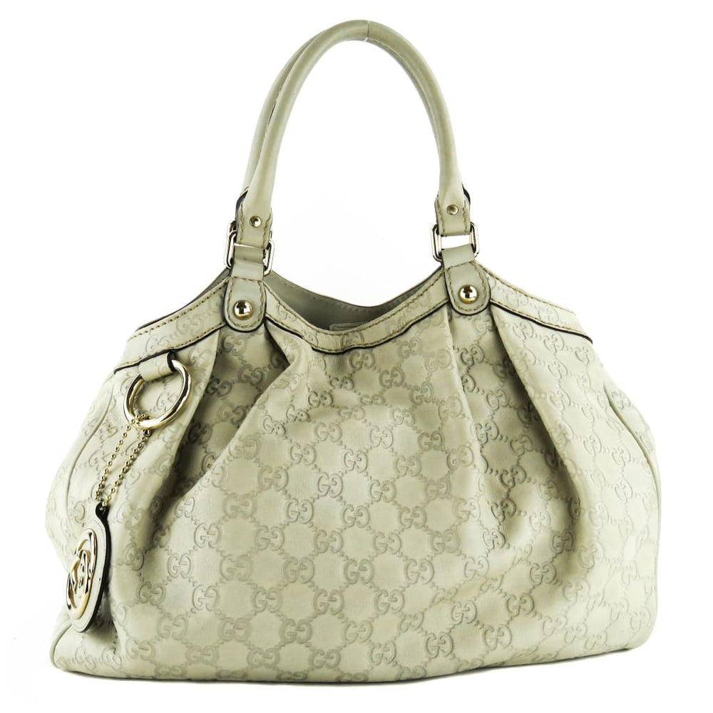 08df52710bcf2c Gucci Beige Guccissina Leather Sukey Medium Tote Bag – Mosh Posh ...