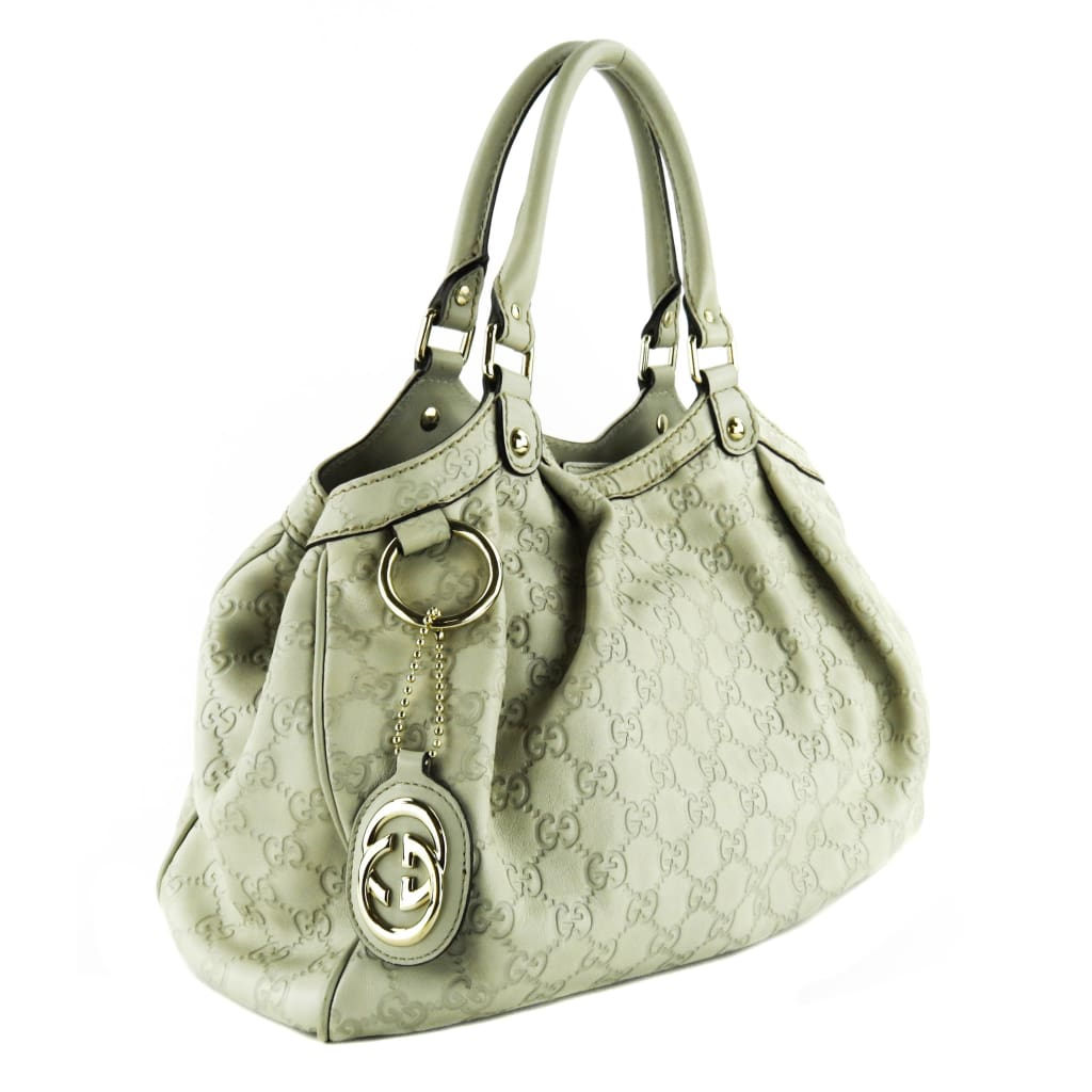 Gucci Beige Guccissina Leather Sukey Medium Tote Bag - Totes