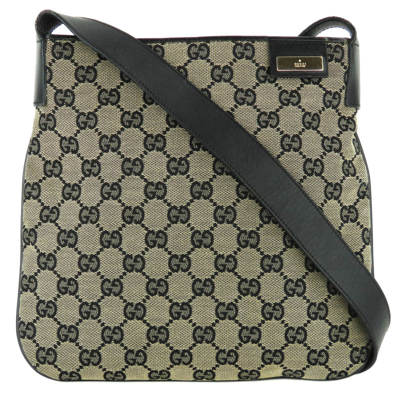 Gucci Black GG Canvas Small Messenger Shoulder Bag - Shoulder Bags