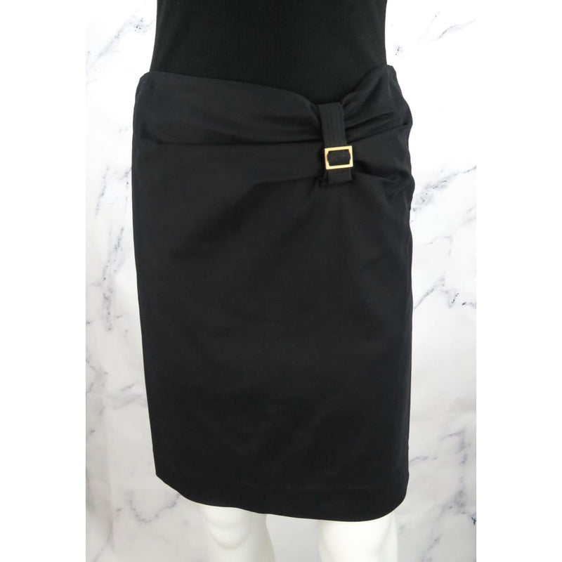 Gucci Black Rayon Size 42 Knee Length Skirt - Skirts
