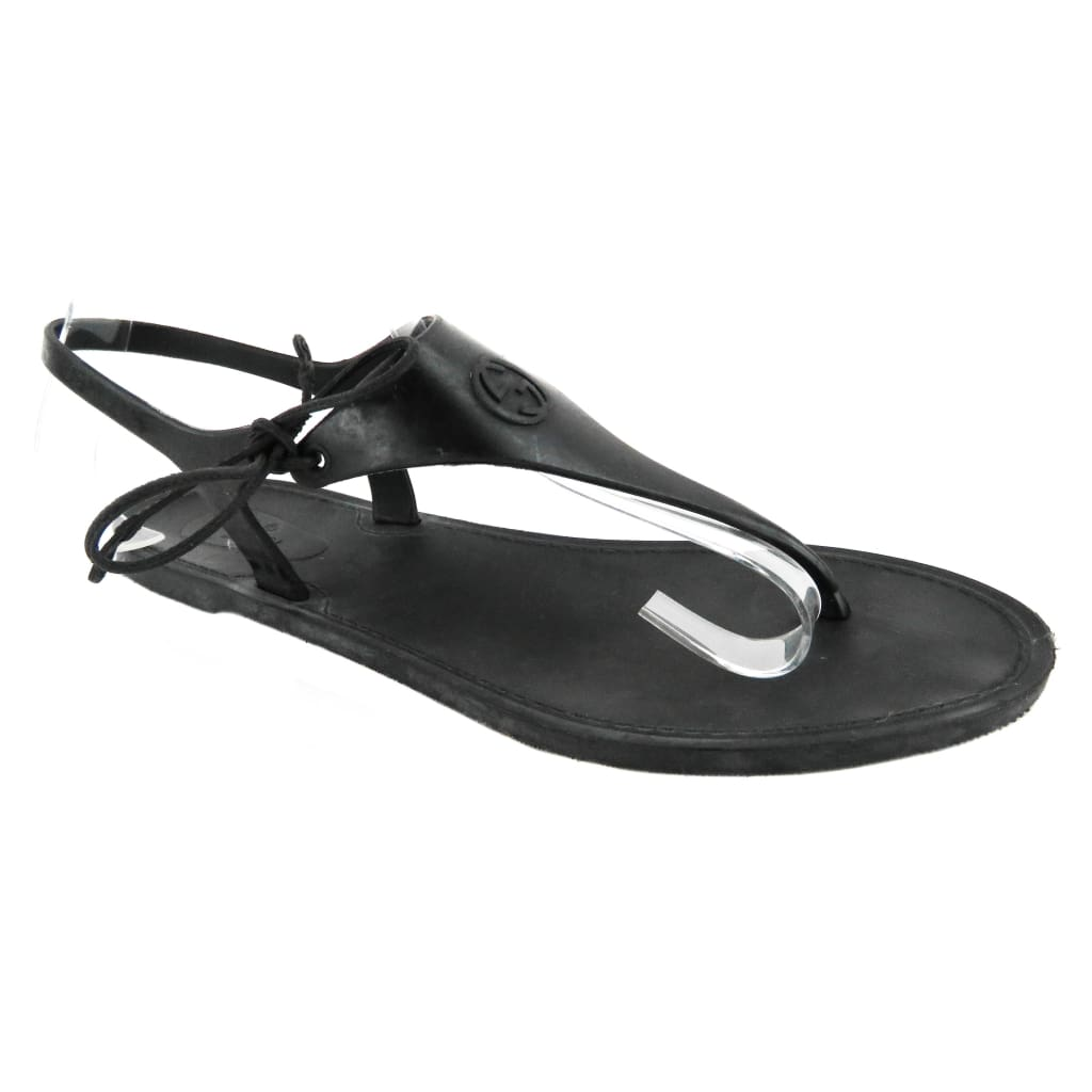 Gucci Black Rubber Katina Thong Sandals - Sandals