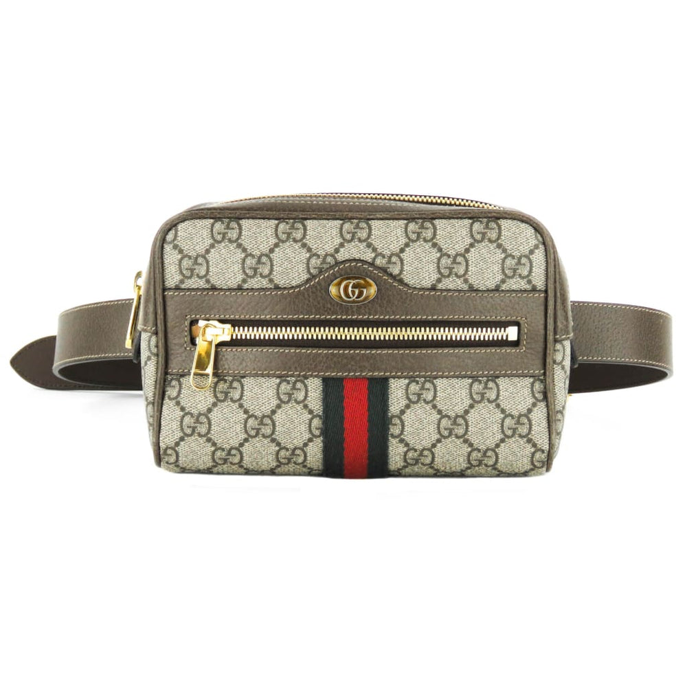 e01b1ad8027761 Gucci Brown GG Supreme Canvas Small Ophidia Belt Bag – Mosh Posh ...