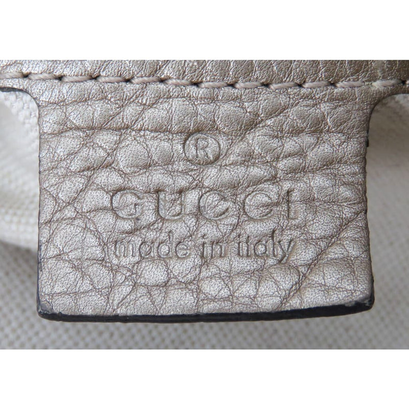 Gucci Gold Metallic Pebbled Leather Bella Hobo Bag - Hobo Bags