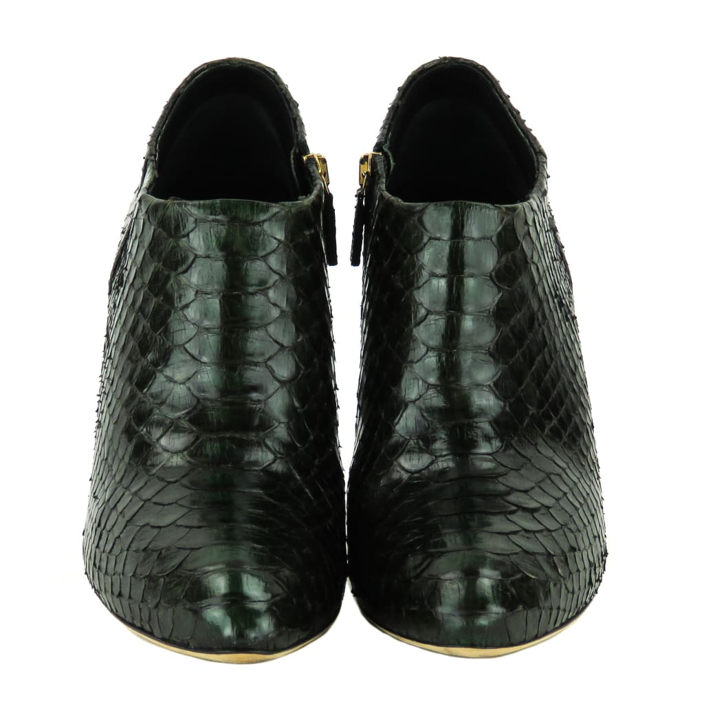 Gucci Green Python Ankle Booties - Bootie