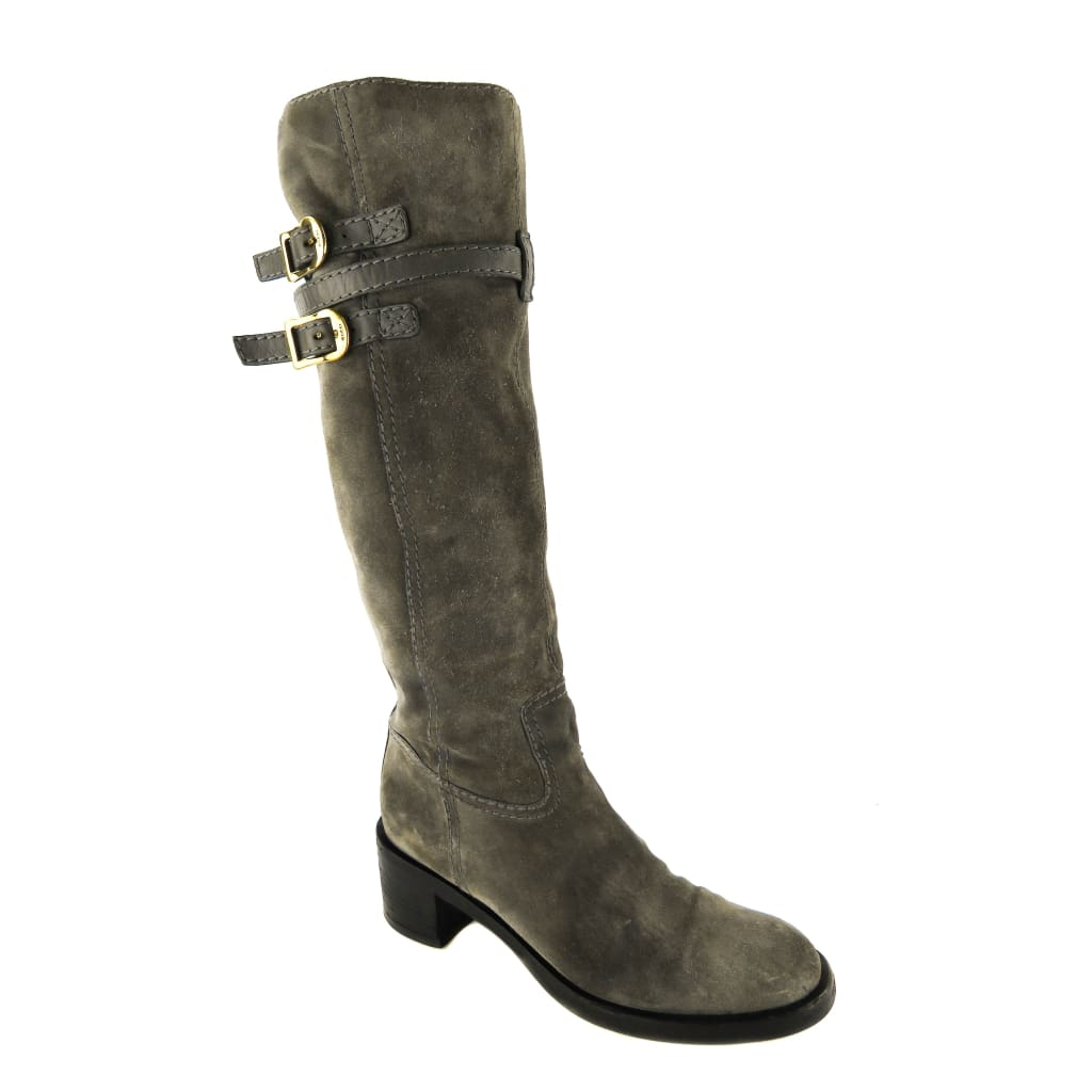 Gucci Grey Suede Knee High Boots - Boots/Rain Boots