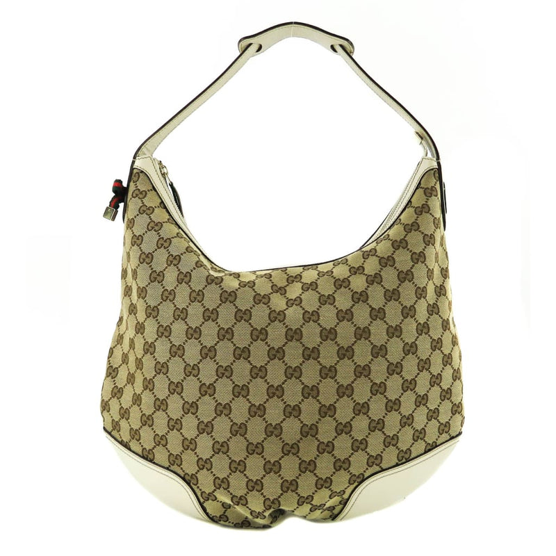 Gucci Ivory GG Canvas Princy Hobo Bag - Hobo Bags