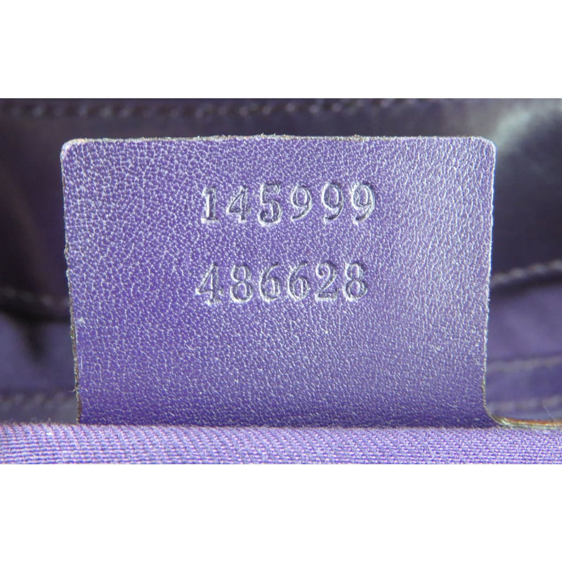Gucci Purple Horsebit Embossed Patent Leather Treasure Flap Shoulder Bag - Shoulder Bags