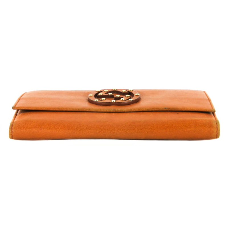 Gucci Tan Leather Interlocking GG Blondie Wallet - Wallet