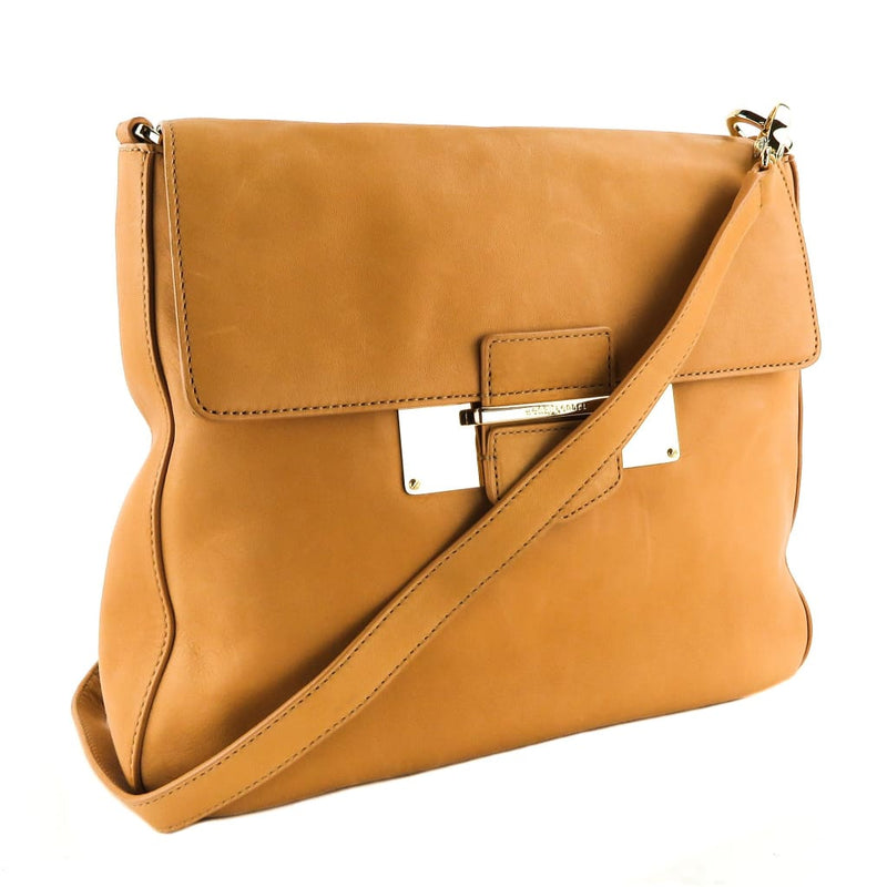 Henri Bendel Tan Leather Whitney Messanger Crossbody Bag - Crossbodies