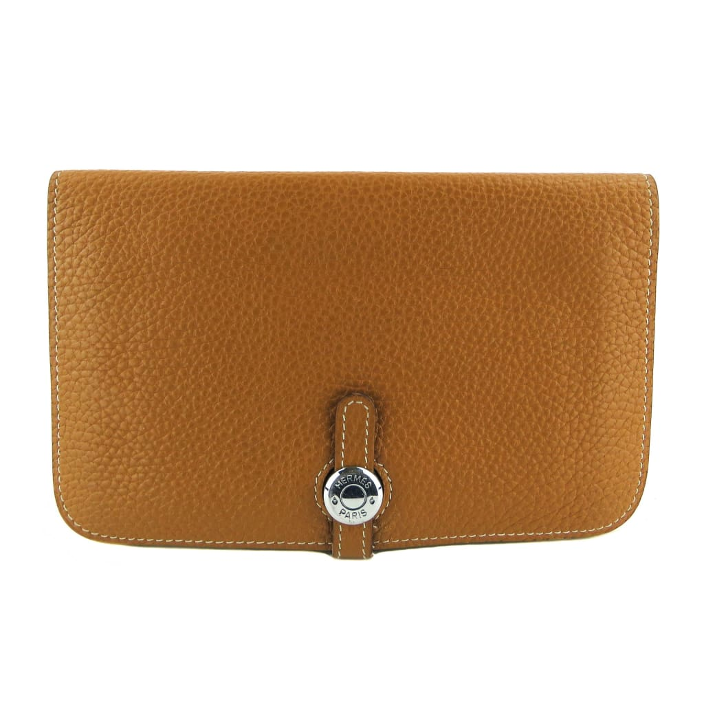 Hermes Tan Togo Leather Dogon Wallet - Wallet