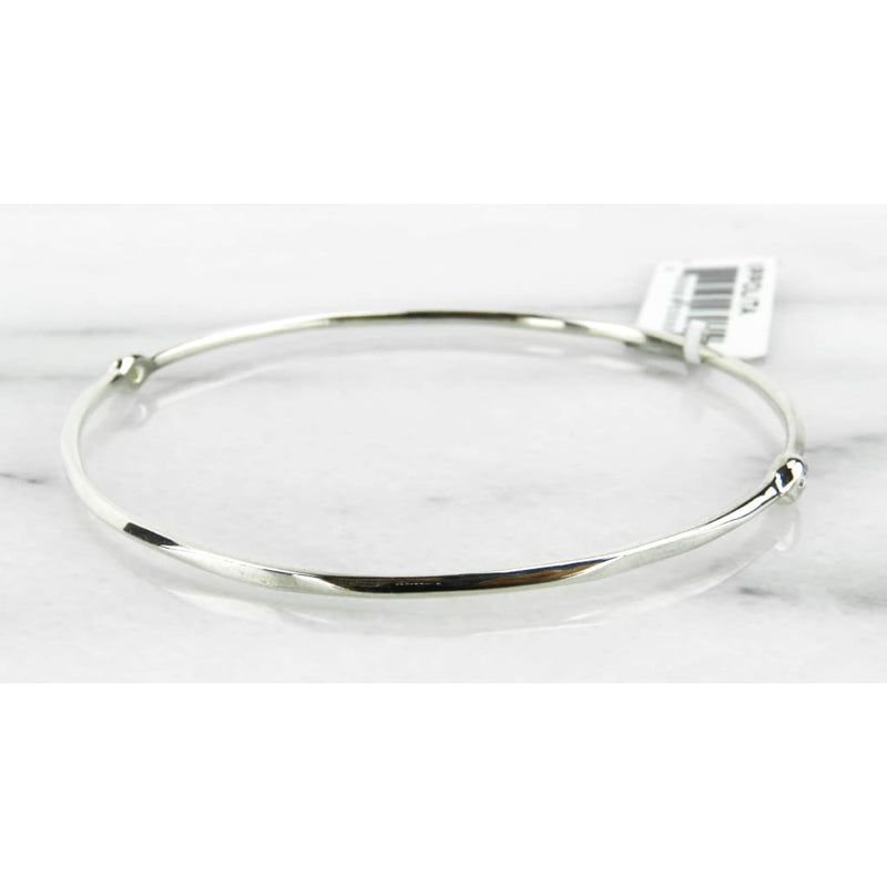 Ippolita Sterling Silver 2 Diamond Bangle Bracelet - Bracelet
