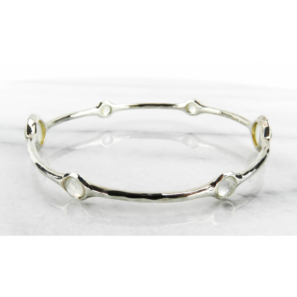 Ippolita Sterling Silver Mother of Pearl Diamond Lollipop Bangle Bracelet - Bracelet