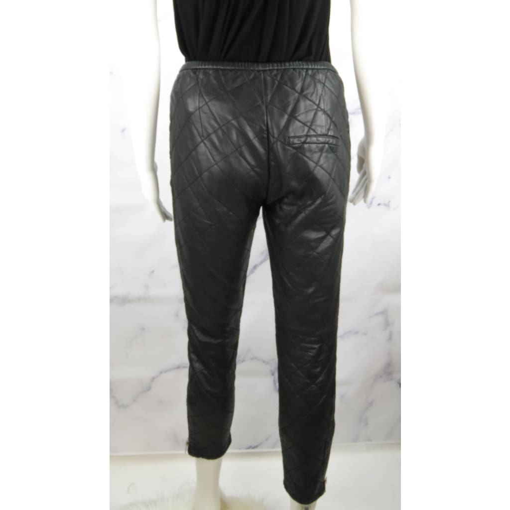 Isabel Marant Etoile Black Lambskin Leather Size 36 Pants - Pants