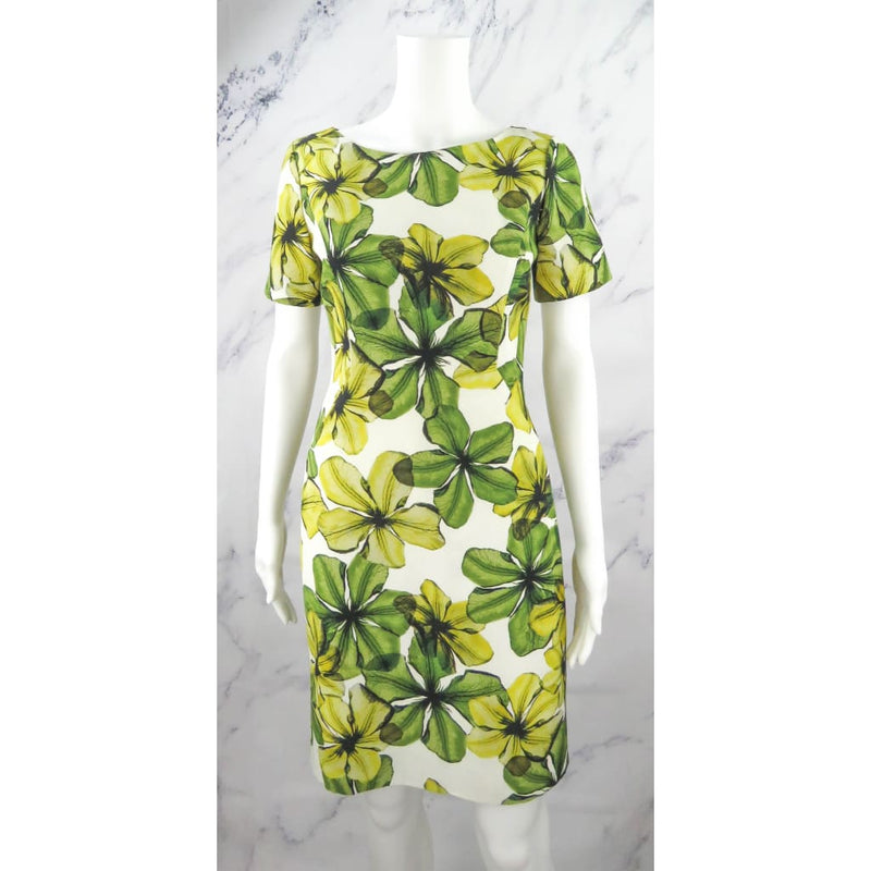 Jason Wu Green and White Floral Print Resort 2013 Size 2 Dress - Dresses
