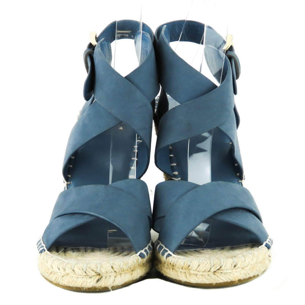 Joie Blue Nubuck Leather Kaelyn Espadrille Wedges - Wedges